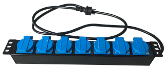 Rack PDU 2 Round Feets - 7 Sockets with Cover