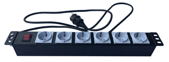 Rack PDU 2 Round Feets - 6 Sockets without Cover